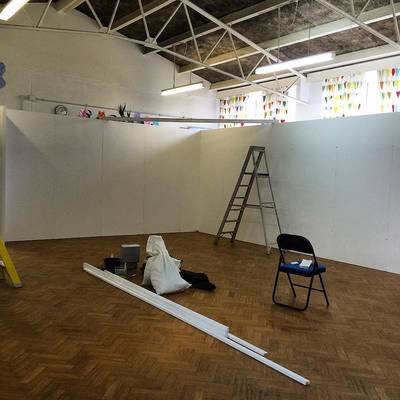The walls for the Blueprint for Living exhibition are going up. Not long now! See bio for link to full info. #modernism #photogr